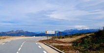 High road in Sardinian Mountains