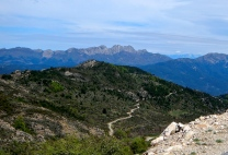 Ruggered Sardinian mountains