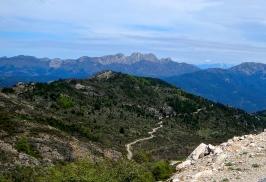 Ruggered Sardinian mountains