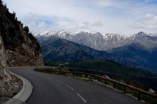 Late spring snow on Sardinian mountains