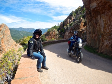 Someone else enjoying the ride on Corsica's stunning west coast