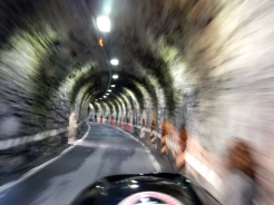 One of many narrow tunnels