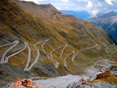 The road leading to Italy's Stelvio Pass, how good does that look..