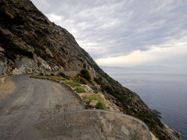 Some Corsician roads have very little to stop you tumbling off the edge