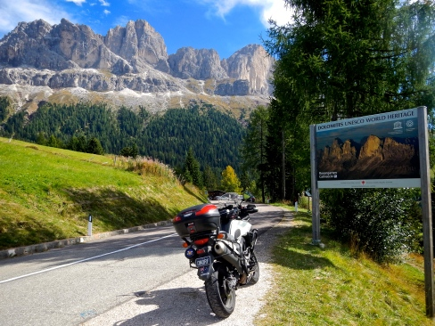 This road winds it way through the Dolomites which are UNESCO listed