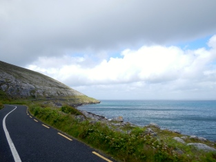 Typical Irish coastal road