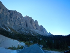 Dolomite Mountains, not many straight roads here