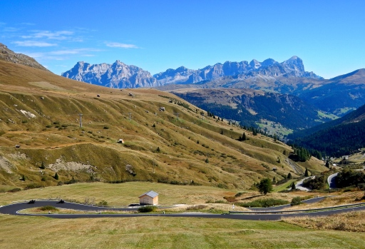 Part of the Dolomite Mountains Italy