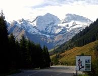 Austrian mountains dead ahead