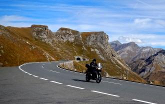 Biker enjoying the moment