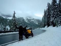 A little cold here, riding through the Obertauern Ski Field Austria