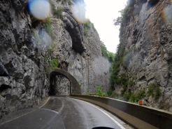 One of many gorges in French Pyrenees mountains