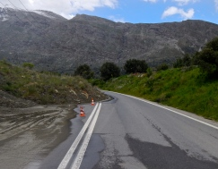 Landslides add to an interesting ride, Crete style