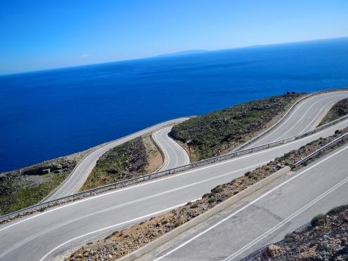 Just a mass of perfect motorcycling corners, Crete South coast