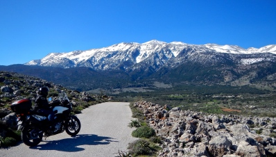 Great small Road heading towards Crete's Southern mountains