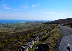 Sweeping views on road from Peel to Port StMary on the Isle of Man