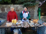 Sunday morning cake stall outside church on the way to Treblinka
