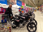 Motorbikes for sale in Tescos supermarket store!!!!!