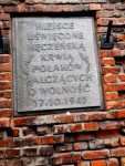 "This reads... ""Place sanctified by the blood of Poles fighting for freedom"""