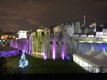 The Lone Christmas Tree outside the Tower Of London