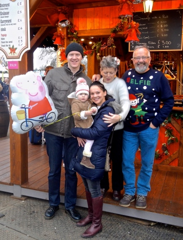 Greg, Karsia & Olivia with their Gypsy Parents - Londons Winter Wonderland