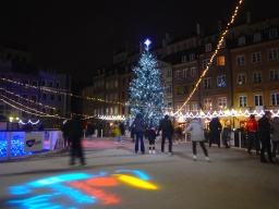 Ice skating on The centrę of OldTown Market Square