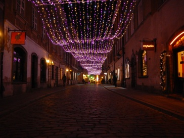 Just a Beautifully lit street In OldTown