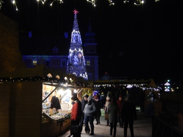 Christmas street stalls In OldTown