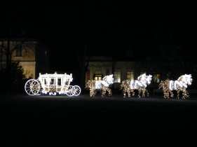 Christmas Royal carriage Wilanow Palace