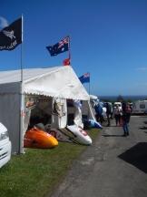 Aussie & Kiwi sidecar team's tent