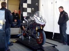 Australian Cameron Donald's Norton mount for the TT, not happy times for him