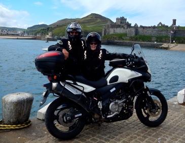Plenty of bike parking on the sea wall