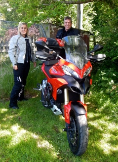 Rob & Julie and their Ducati Multistrada