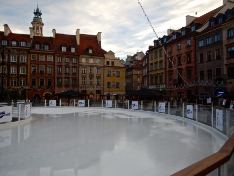 Ice rink in Old Town Square