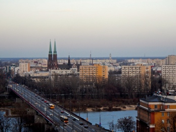 View across to Vistula river Praga