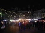 People enjoying Mulled wine, food and vodkas before the fire works