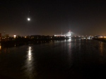 Our vantage point for the fire works - beautiful full moon