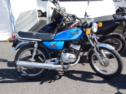 Yamaha RX125 - Drum brake version. What a find in the IOM pit paddock ! Probably the private ride of a past TT winner....
