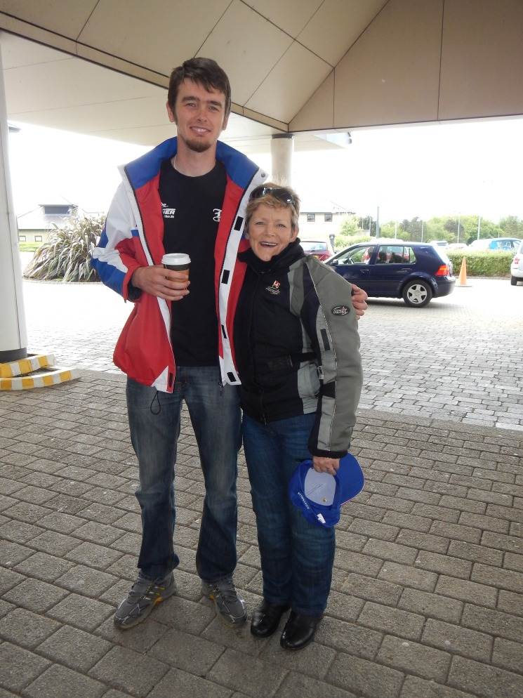 The long and the short of the story - Jo with one of the TT nice guys Connor Cummings