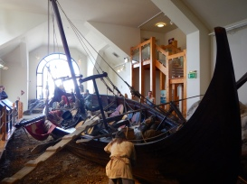 A Vikings boat in the Peel Museum, worth a visit