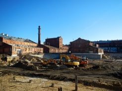 The old Vodka factory undergoing major works
