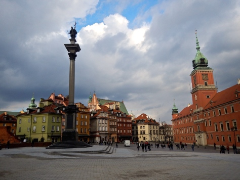 Castle square with Royal Palace and King Zygmunt (Sigismund) III Waza Column
