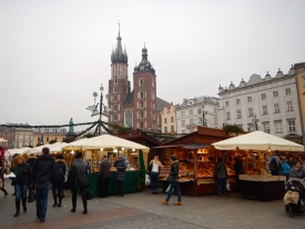 Bustling Christmas Market against stunning backdrop