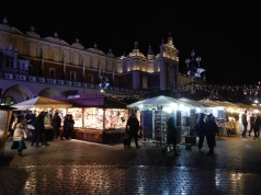 Krakow Market Square at night