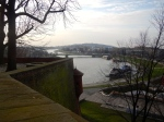 Vistula river from parapet of Wawel Castle