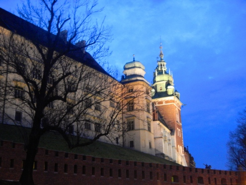 Wawel castle at dusk