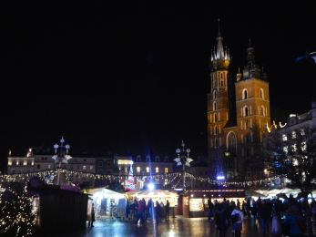 Christmas market at night - lovely backdrop