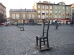 Symbolic chairs a site where Jews gathered to be deported