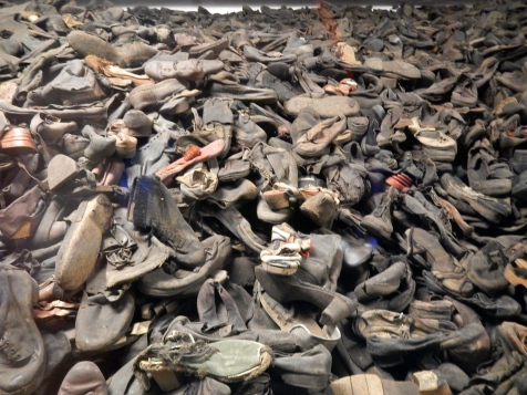 Shoes of those murdered at Auschwitz