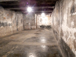 Inside the very 1st gas chamber at Auschwitz